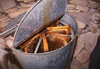 Centrifugadora para la extracción de la miel