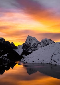 Gokyo Lake at Sunset