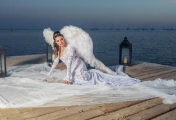 Angel blanco