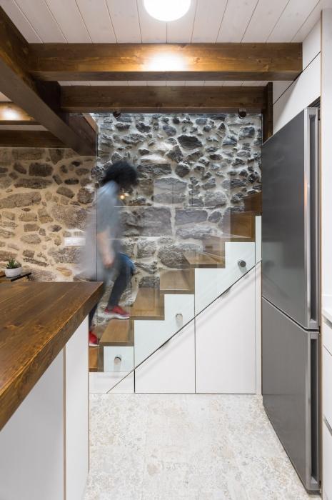 escaleras, fotografía interiorismo, arela arquitectura, galicia