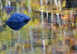 """porfolio: """"espejismos""""   título: """"la roca azul"""""""