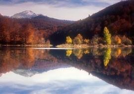 """porfolio: """"espejismos""""   título: """"espejo de otoño"""""""