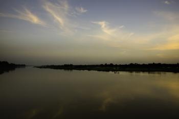 Atardecer en el Níger