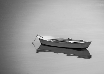 Boat on calm sea | 2009 | Ares - A Coruña, Spain