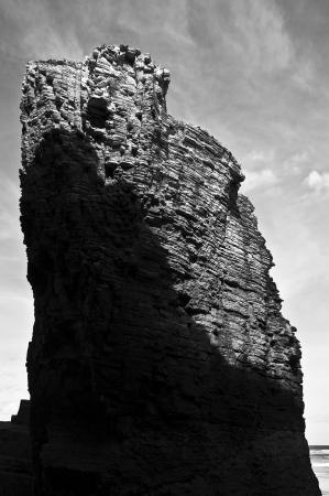 Roca iluminada | 2014 | Playa de Las Catedrales - Lugo, España