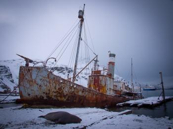 Viejo barco ballenero - Grytviken - Juan Abal