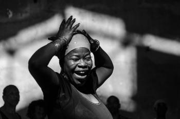 great afrocuban woman dancer in my photo sessions in Cuba, Fine art by louis Alarcon