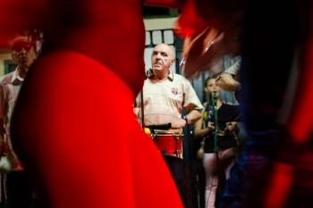 travels of photography in cuba , street photography in a salsa session