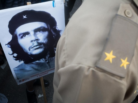 che guevara comander , argentinan cuban heroe.