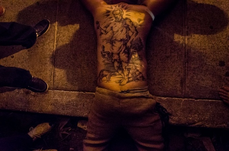 tatoos of Saint Lazarus in a travel of photography tourism