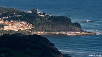 El terreno de juego, visto desde un plano general (Asturies).