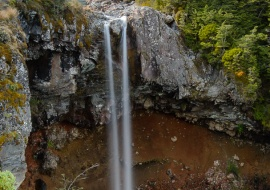 Mangawhero Falls y Monte Ruapehu