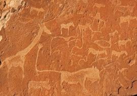 Petroglifos. Twyfelfontein, Namibia
