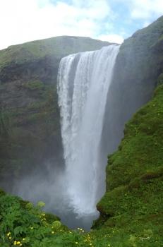 PANORAMICA DEL SALTANT DE SKOGAFOSS – SUD D'ISLANDIA