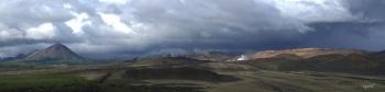 PANORAMICA DES DE EL HVERFJALL CRATER  –  NORD D'ISLANDIA   – VOLTANS DEL LLAC MYVATN