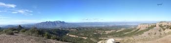 vista des de el coll de les tres creus - Serra de l'Obac