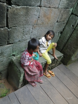 Germanes al al temple de Angkor Wat