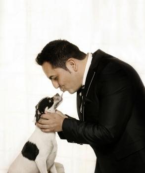 boda novio con mascota