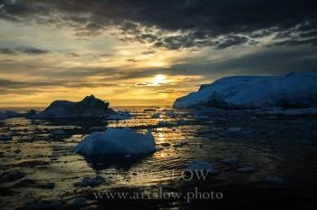 Cántico profundo - Icebergs desprendidos del glaciar Sermeq Kujalleq, Bahía de Disko, Greenland. Edición: 10/10 + 2P/A
