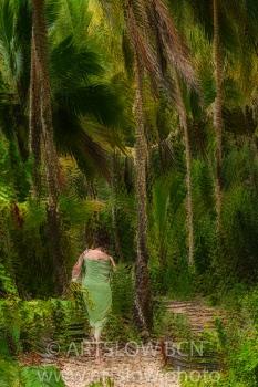 2002-9270-Musa entre Cocoteros, Bocas del Toro,Isla de Colón, Panamá