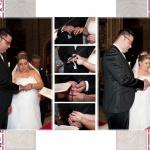 Lienzo del álbum 30x40, momento importante en la ceremonia, puesta de anillos y entrega de las arras.
