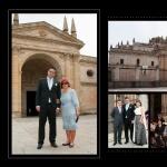 Lienzo del álbum 30x40, llegada del novio y entrada en la Catedral de Zamora