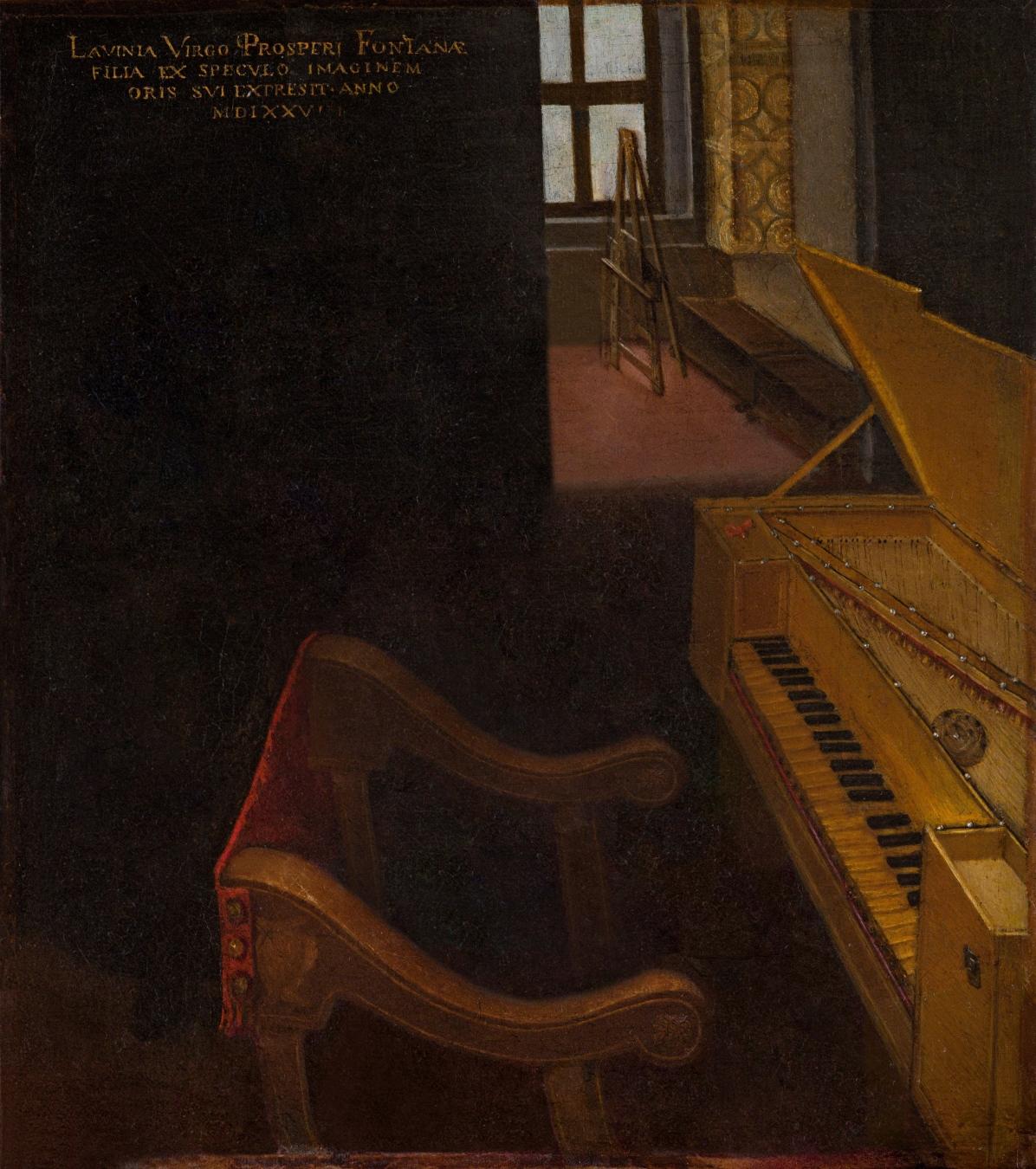 """""""Autorretrato tocando la espineta"""" de Lavinia Fontana - TIENDA - Tienda David Bokeh"""