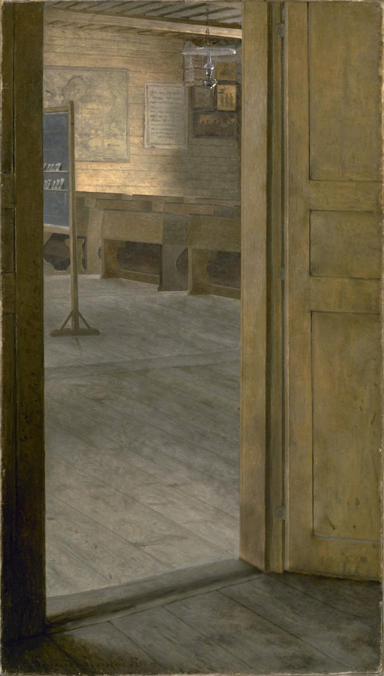 """""""At School Doors"""" de Nikolay Bogdanov-Belsky - TIENDA - Tienda David Bokeh"""