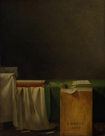 """""""La muerte de Marat"""" de Jacques-Louis David"""