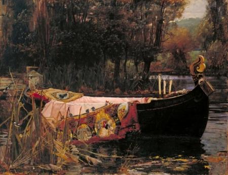 """La dama de Shalott"" de John William Waterhouse"