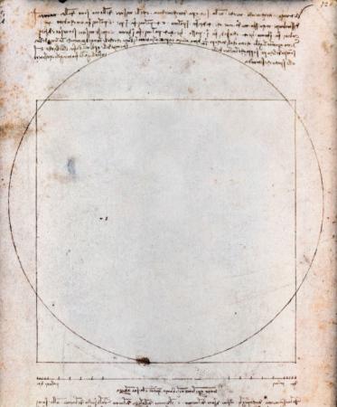 """""""Hombre de Vitruvio"""" Leonardo da Vinci"""