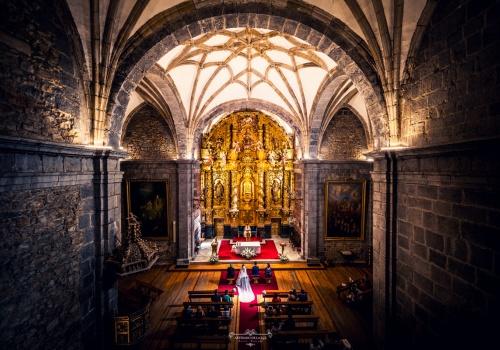 Artesano de la Luz - Ceremonia de boda en el Santuario de Nuestra Señora Bien Aparecida, en Cantabria.