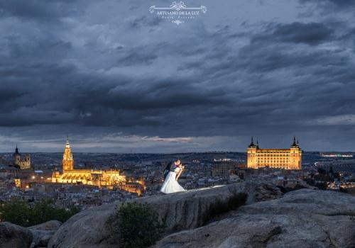 Artesano de la Luz - Postboda en Toledo desde la roca del Rey Moro