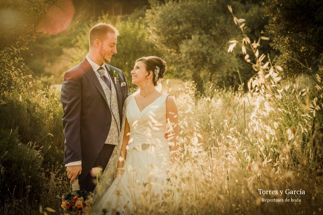 luz cálida en la puesta de sol - Fotografías - Libros y reportajes de boda diferentes.