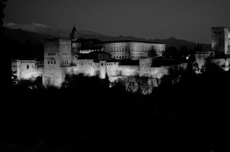 La Alhambra, desde el Mirador San Nicolás. Granda, España.