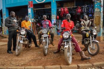 Bodaboda. Sonrisas de Gulu. Uganda 2011.