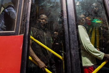 Transporte urbano. Etiopía 2014.