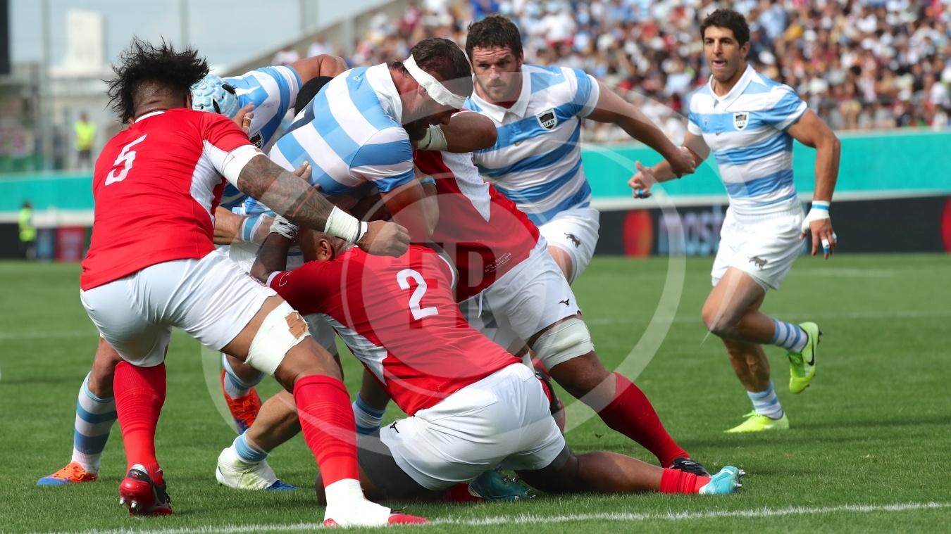 M13 Argentina 28 vs 12 Tonga - Fotografia de Rugby,