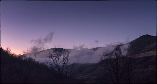 10 de gener de 2020. Crepuscle al Puigmal