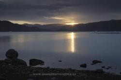 Amanecer en Qassiarsuk, Groenlandia