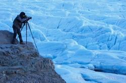 Fotografiando un glaciar. Islandia