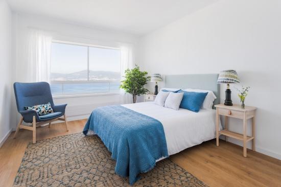 apartamento turistico, fotografía de interiores, dormitorio, ventana