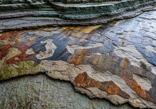 Paredes roca Geo Parque Zumaia