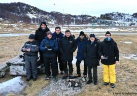 Con Victor Tabernero en Sommaroy (Tromso). Noruega 2020