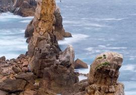 La aguja de las gaviotas, playa de Arnia (Cantabria)