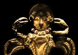 DSC_9777 imagen de deidad hombre-cangrejo en cobre dorado