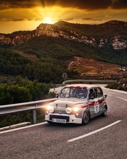 Anton Montero Fiat Abarth 850 1000 Rally Costa Daurada Legend 2019 clasico riudecanyes duesaigues reus cambrils baix camp priorat falset sunset